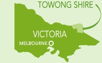 Victoria - Towong Shire - located in the north-east of the State and includes the towns of Corryong and Tallangatta.