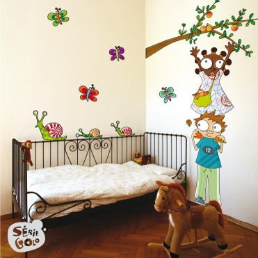 AUX POMMES / Stickers muraux / Wall stickers / Design Série-Golo