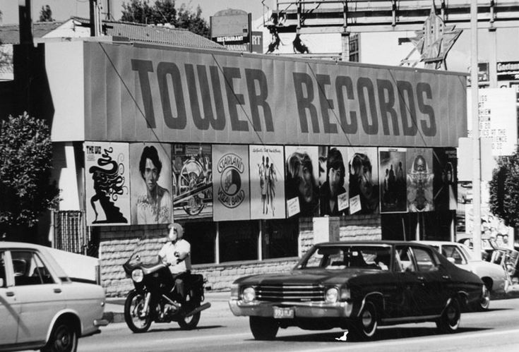 Famous Sunset Strip Tower Records Back in 1971
