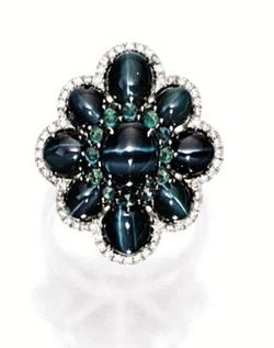 CAT'S-EYE ALEXANDRITE AND DIAMOND RING | Sotheby's