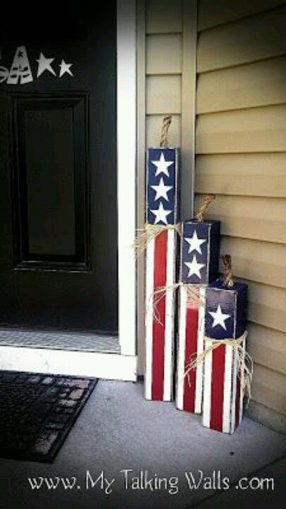 DIY Fireworks. Easily add to your patriotic/memorial holiday decor.