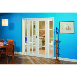 Wickes Newland Internal French Doors with Demi Panel Pine Glazed 10 Lite 2007x1896mm Arch Dimensions: