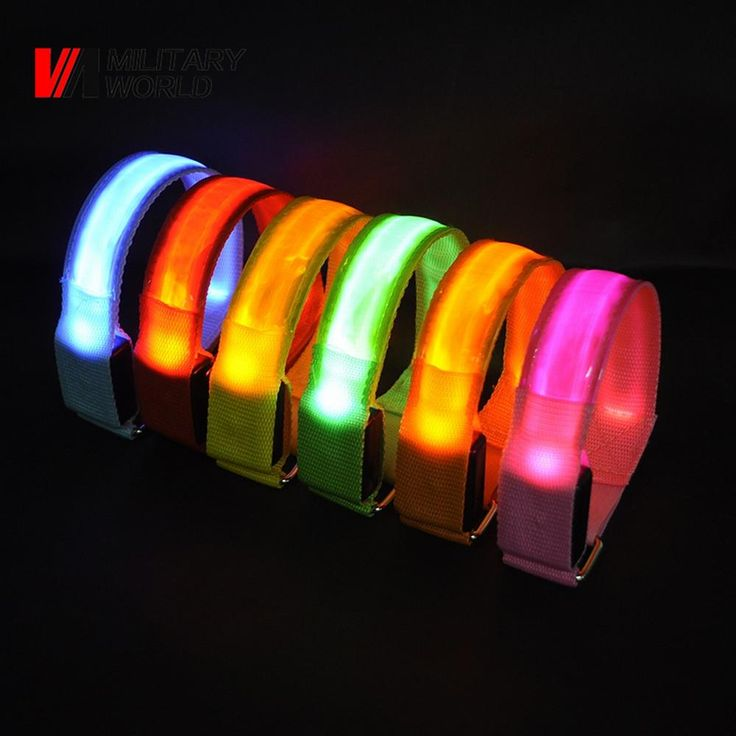 Luminous Light Up Armband Glow Man LED Waistband Party Camping Ankle Visible Arm Belt Strap Sport Jogging Biking Safety Bands