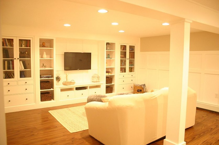 Ikea built in wall unit- this is so exactly what I want in the basement. will need to be altered to fit the space available but the concept is perfect.