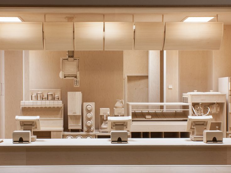 A Life Size Model Of A Fast Food Joint, Made Entirely Of Wood