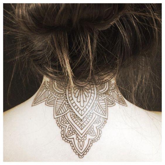 35 Splendid Back Of Neck Tattoo Designs: 1000+ Ideas About Neck Tattoos On Pinterest