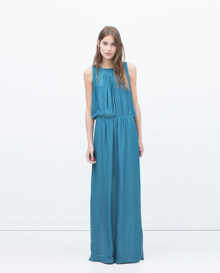 BOX PLEAT DRESS WITH BIB FRONT DETAIL-View all-Dresses-WOMAN | ZARA United Kingdom