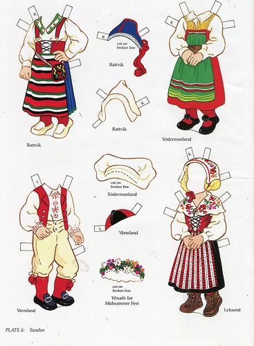 book - libro - scandinavian girl and boy - paper doll - sweden | par sonobugiardo