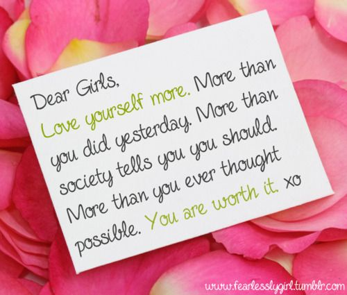 dear girl quotes | dear girls on Tumblr | This is me ...