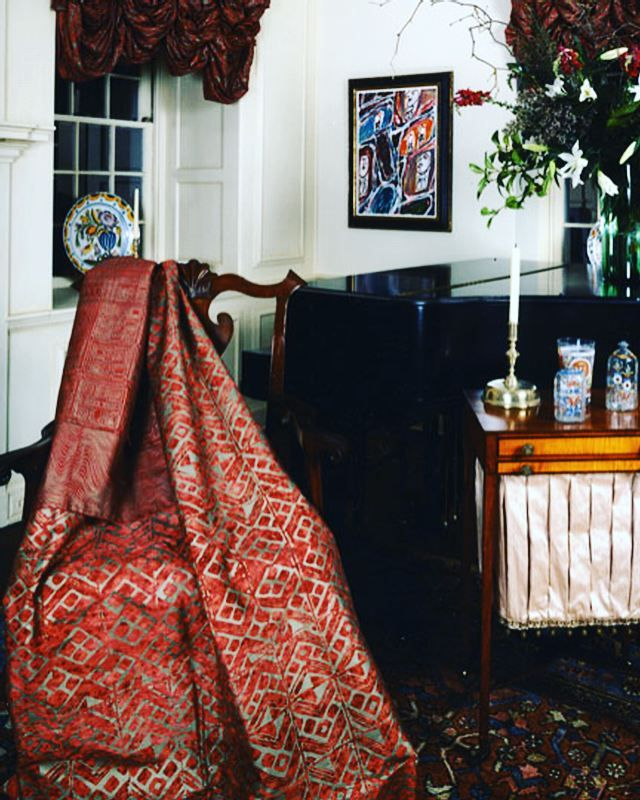 Nyame Baton Rouge Slg On Silk Drapery Upholstery