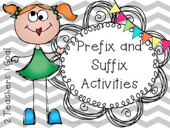 Prefix And Suffix Activities. Formal AssessmentPrefixes ...