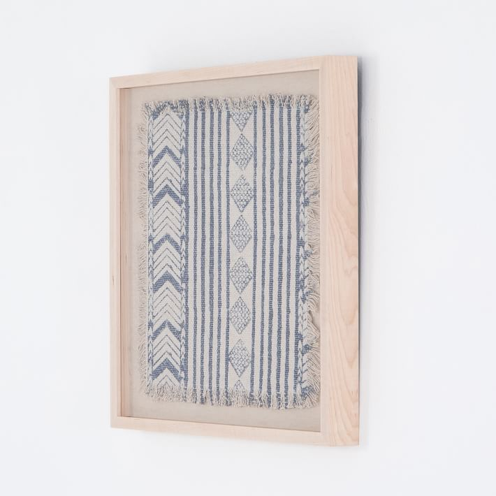 Ida Framed Textile Art Textile Wall Art Fabric Wall Art Framed Fabric