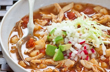 Quick Chicken Pozole — Punchfork | Mexican Recipes | Pinterest