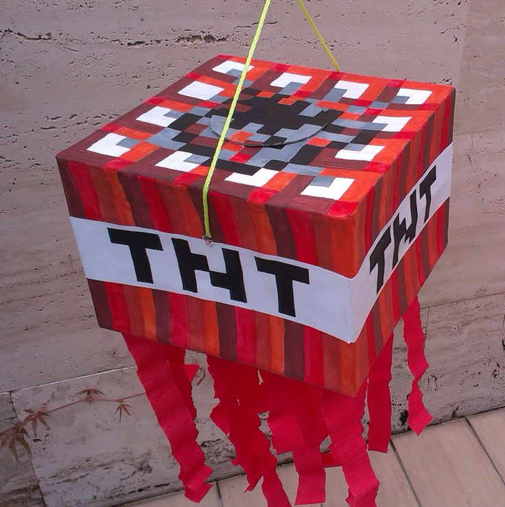 Minecraft TNT pinata | Minecraft for Peter | Pinterest ...