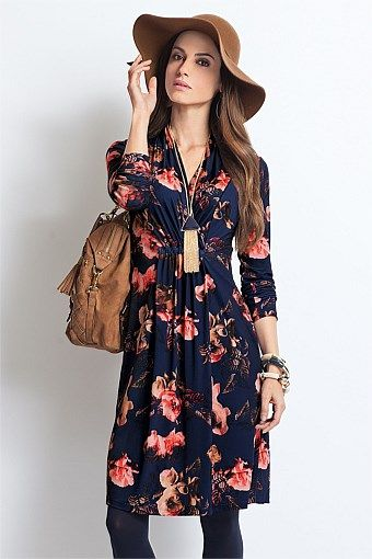 Together Woman Wrap Over Dress