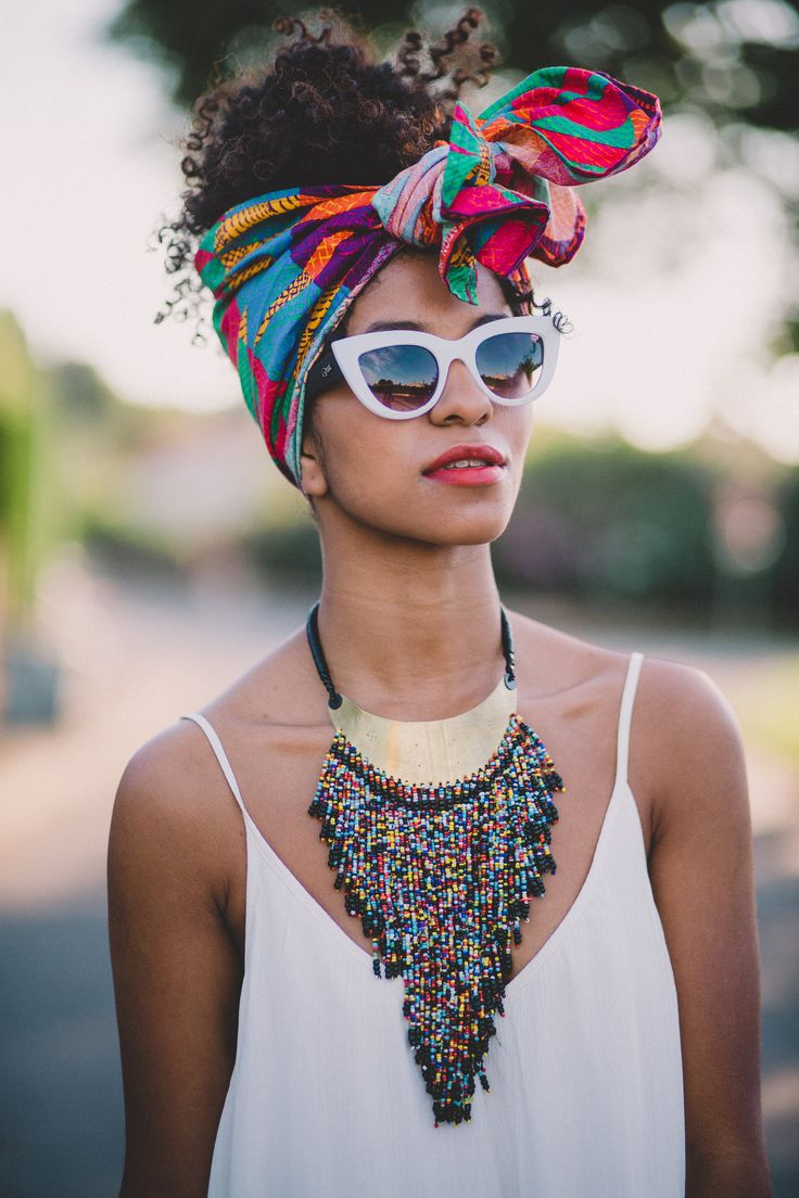Collier africain perles et bronze