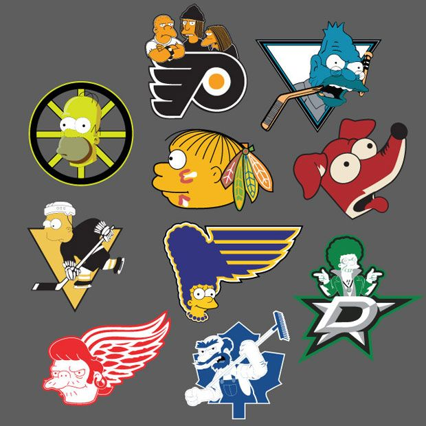 Found on #TSN 's #BarDown, this is a mashup of NHL logos and The Simpsons. This is only the first series, so there's more to come from AK47 Studios.See more of their work at http://instagram.com/ak47_studios .