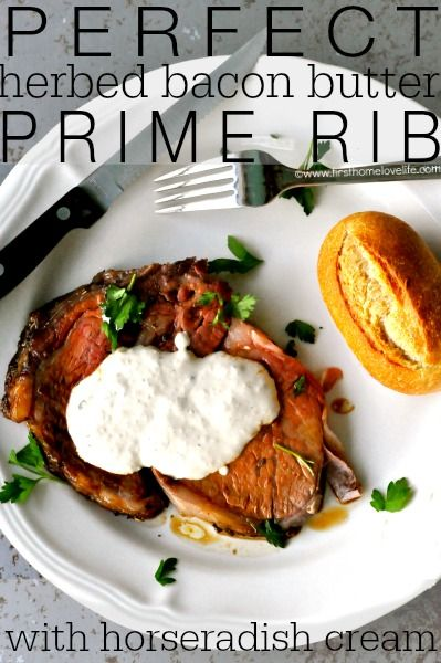 the perfect prime rib recipe with horseradish cream sauce