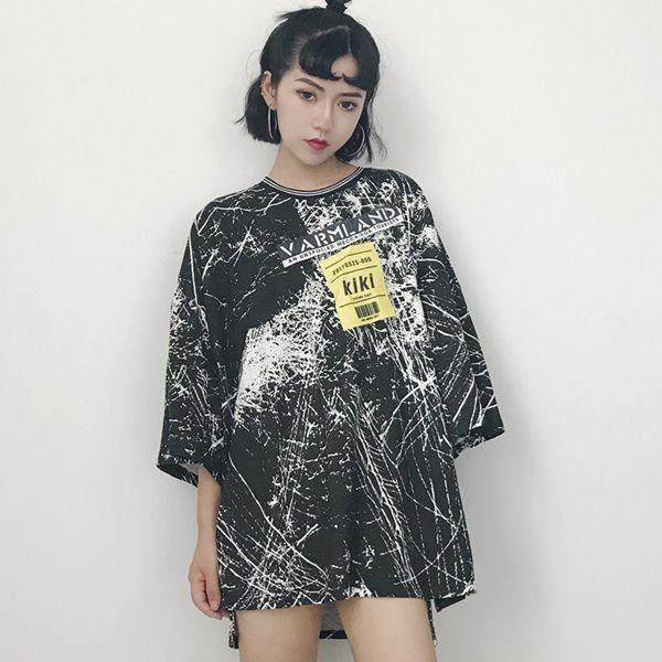 原宿系 ヴィンテージ 半袖 Tシャツ ファッション レディース