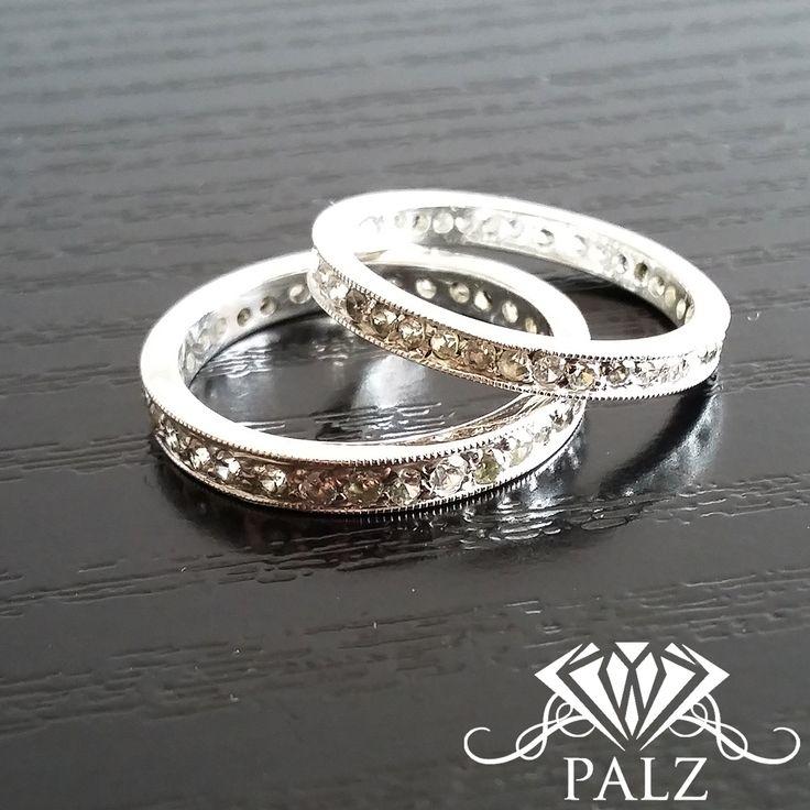 vintage eternity silver ring