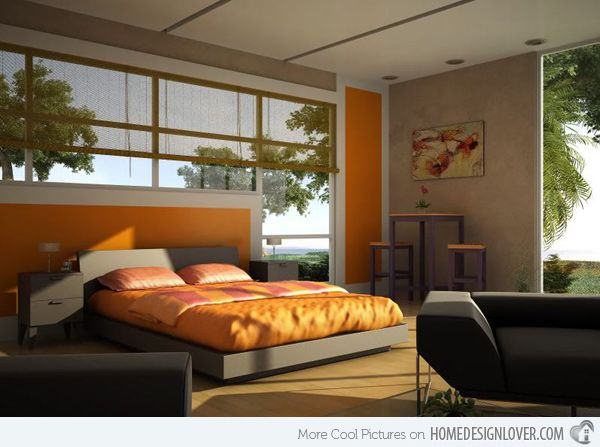 Bedroom Designs Orange And Brown
