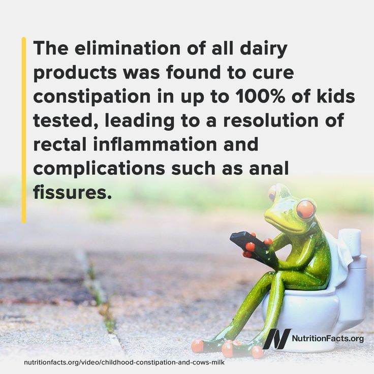 """Fiber and laxatives are often prescribed for children with chronic constipation, but what about just recommending dairy-free alternatives? Watch the video """"Childhood Constipation & Cow's Milk"""" on NutritionFacts to learn more.NutritionFacts.org"""