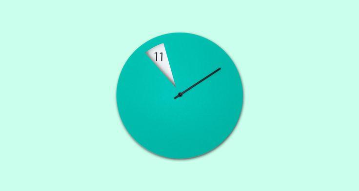 Sabrina Fossi Mint Green Freakish Clock   A Splash Of Colour