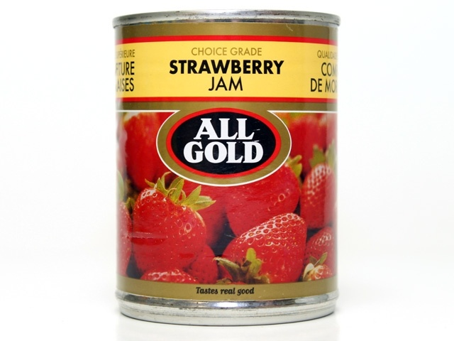 All Gold strawberry jam | Iconic South African brand | Source: http://kimber-lite.tumblr.com/post/35914084201/tastes-real-good