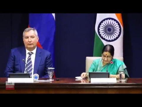 Press conference by External Affairs Minister Sushma Swaraj & Deputy Pri...