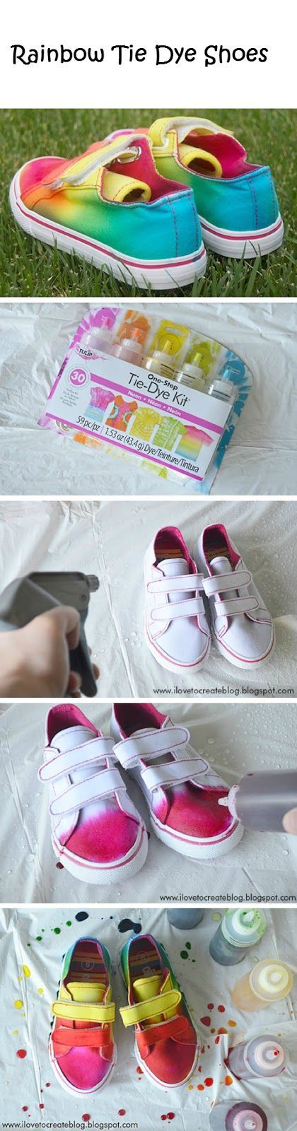 TIE DYE SHOES FOR THE GIRLS