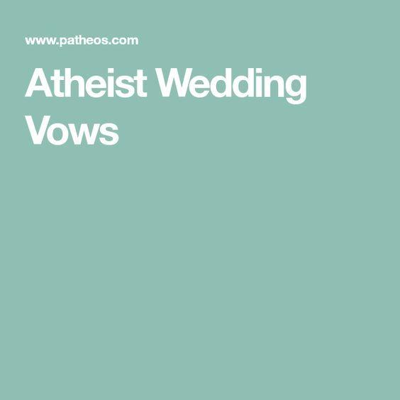 Atheist Wedding Vows
