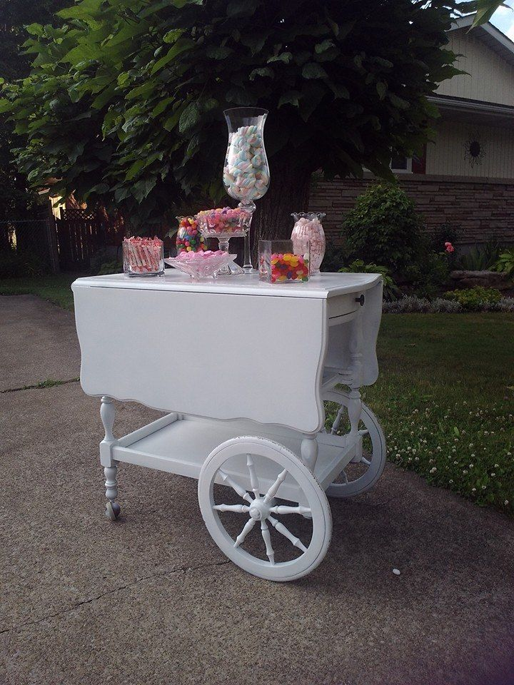 Tea cart candy bar for your wedding or shower other