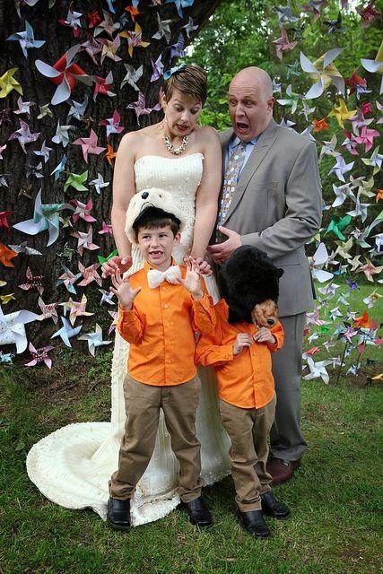 "pinwheel arch, ring ""bear""ers, great wedding planning advice."
