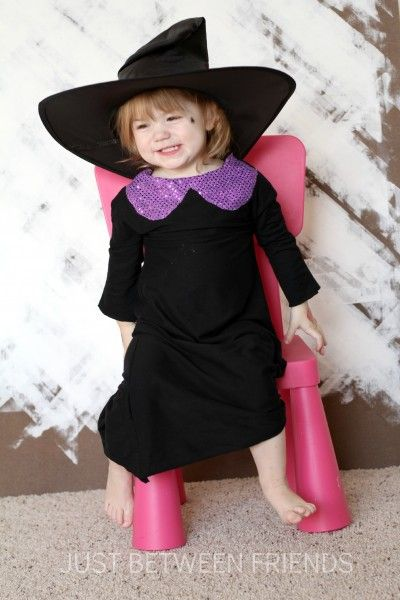 Toddler Witch Costume 2