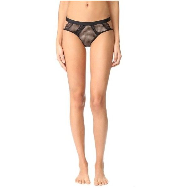 Cosabella Bisou Fishnet Bikini Briefs ($36) ❤ liked on Polyvore featuring intimates, panties, black, cut out panties, swim bikini bottoms, fishnet panties, cosabella and cut out bikini bottoms
