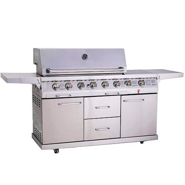 de luxe outdoor gas barbecue grill lpg bbq grill on sale