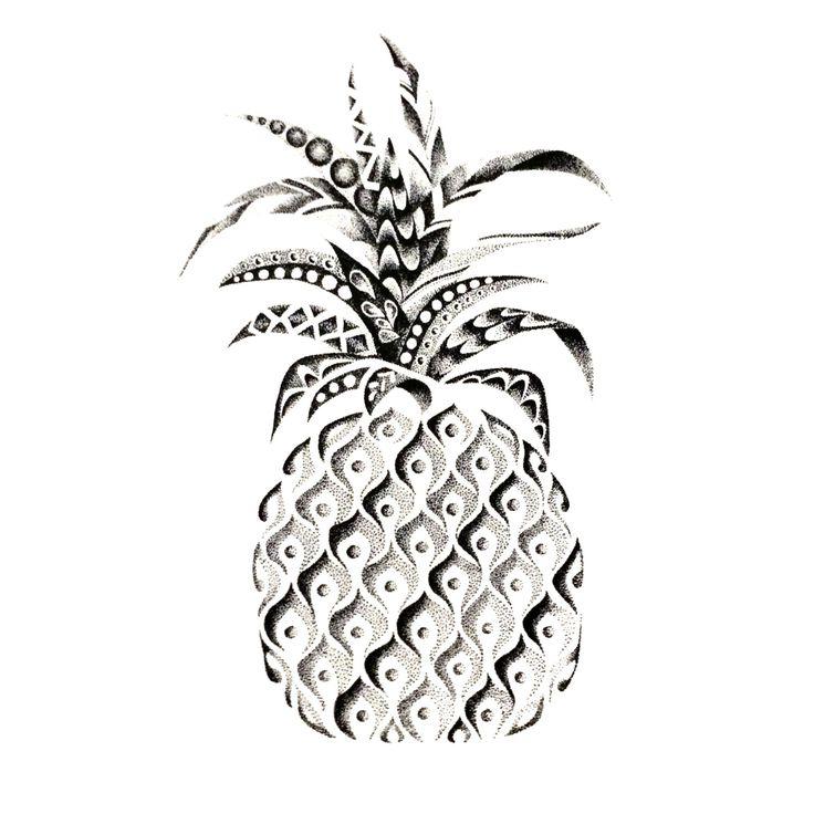 POINTILLISM pineapple print by StudioAmyLynn on Etsy https://www.etsy.com/listing/262626371/pointillism-pineapple-print