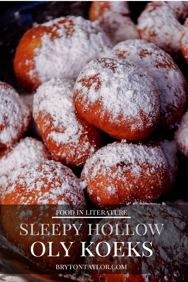 Oly Koek and Doughty Doughnut recipes   Sleepy Hollow - Food in Literature
