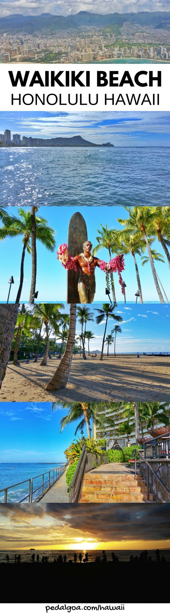 Waikiki Beach, Honolulu, Hawaii. Things to do in Waikiki for free. Beaches, snorkeling spots in Oahu Hawaii. For US beaches in Hawaii, activities on Waikiki Beach! Best Oahu beaches give things to do in Oahu near hiking trails, food, shopping, fun for kids, families. USA travel destinations, bucket list world adventures when on a budget with Hawaii vacation ideas! Add to itinerary in Honolulu! Add snorkeling gear to Hawaii packing list, what to wear in Hawaii... #hawaii #oahu #waikiki