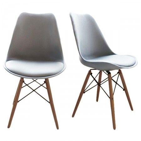 lot de 2 chaises design bois m tal nielsen design et hauts. Black Bedroom Furniture Sets. Home Design Ideas