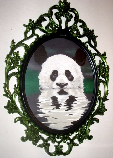 Panda in a water,acril.PAINTINGS | Alexey Azarov // AZART Studio +7925-858-7564 agent Yulia.