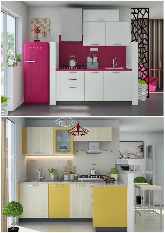 477 best images about decora o cozinhas on pinterest for Cocinas super pequenas