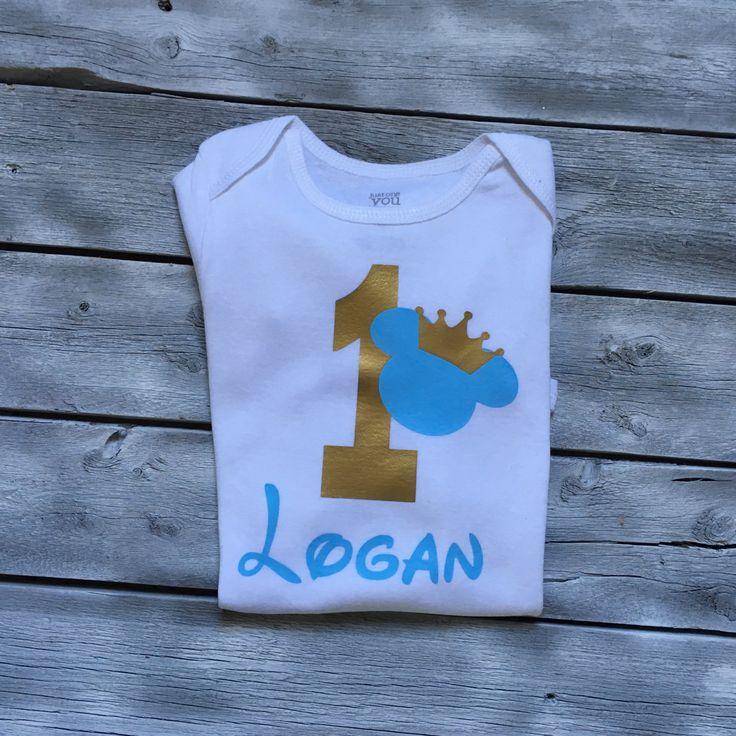 Camisa de cumpleaños 1r niños mickey mouse príncipe mickey