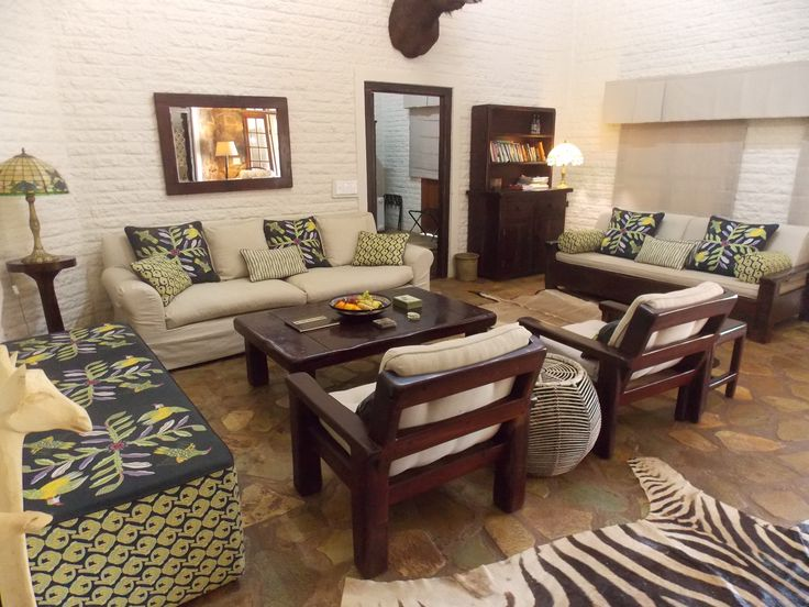 Durable yet stylish furniture with outstanding quality upholstery. Ideal for an exclusive Game Lodge in the #Timbavati