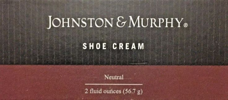 JOHNSON AND MURPHY SHOE CREAM NEUTRAL WITH BUILT IN SPONGE APPLICATOR 2OZ  #JOHNSONANDMURPHY