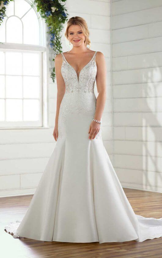 64088f73f1 D2675 Traditional Wedding Dress with Beading by Essense of Australia