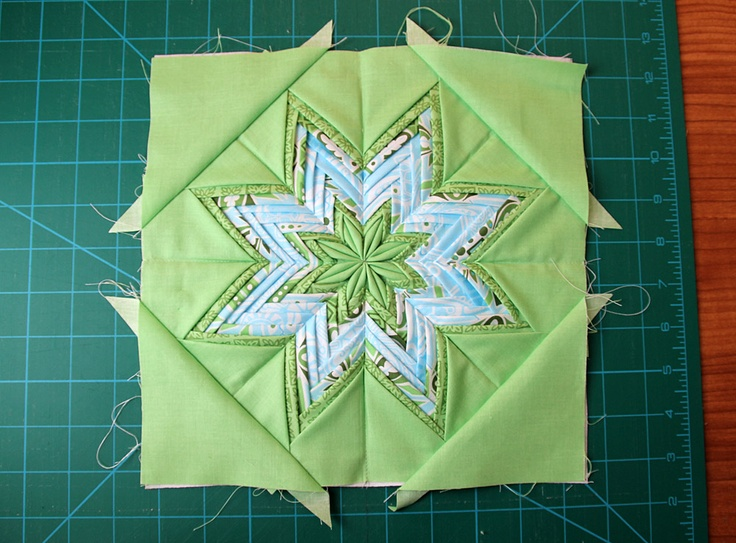 159 best folded star images on Pinterest | Hexagon quilting ... : folded quilt blocks - Adamdwight.com