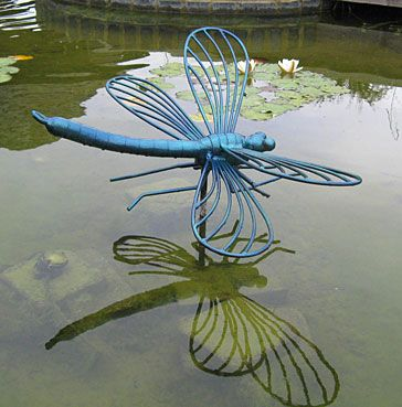 art for gardens and pools a dragonfly sculpture and ornament