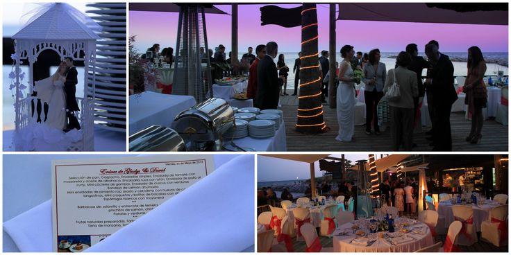 Beach Wedding at Luna Beach Club in Benalmadena, Spain