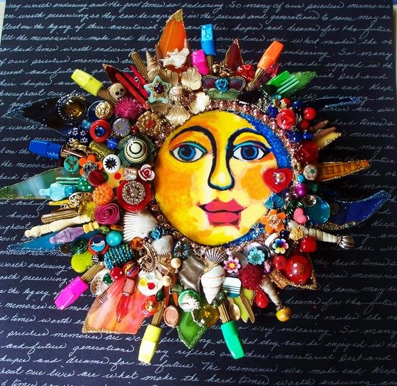 The Fantastic Bead Mosaics SUN Series  the bLuEpLaNeT by bluemoose, $350.00